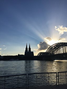 Cologne, Dom, Bridge, Rhine, Cologne Cathedral, Sky