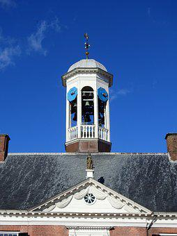 Church, Steeple, Building, Clock, Church Clock, Holland