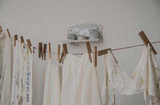 Dresses, Laundry, Clothes Line, Retro, Bleach, Pale
