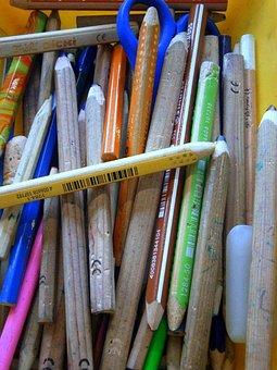 Colored Pencils, Colour Pencils, Mess, Child
