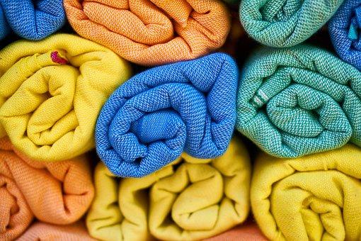 Towels, Textile, Hygiene, Bathroom, Cotton, Colorful