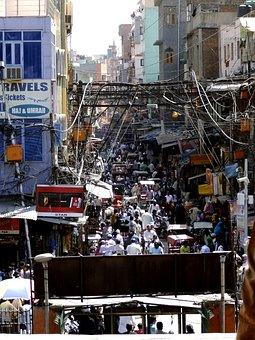 New Dehli, Overpopulation, Chaos, Crowd, India, Crowds