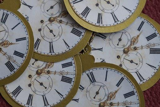 Clock, Pocket Watch, Gold, Do It Yourself, Paper