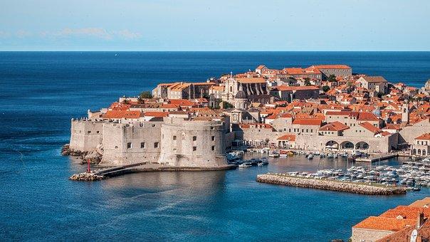 Dubrovnik, Croatia, Kings Landing, City, Town, Sea, Old
