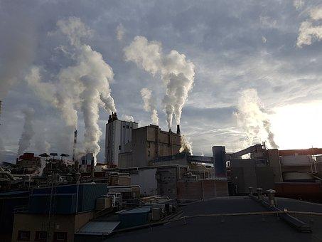 Factory, Industry, Factory Chimney, Chimney, Smoke, Eat