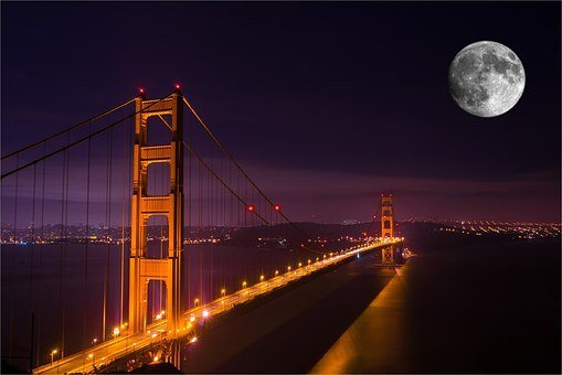 Golden Gate Bridge, Night, Bridge, Gate, Golden