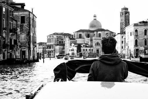 Italy, Venice, Channel, Historically, Boats, Lagoon