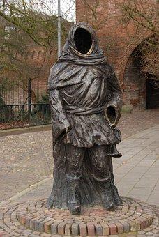 Netherlands, Zutphen, Image, Statue, City trumpeter