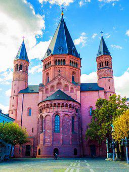 Mainz Cathedral, Mainz, Dom, Church, Imposing, Old Town