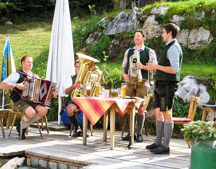 Beer Garden, Music, Bavaria, Tradition, Instrument