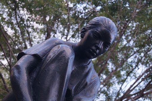 Statue, Women, Park, Figure, Iron, Monument, Face