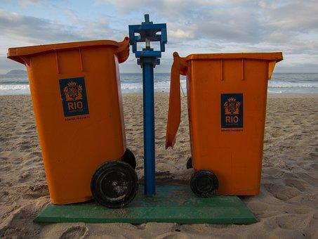 Trash, Rio, Janeiro, Brazil, Mountain, Shanty