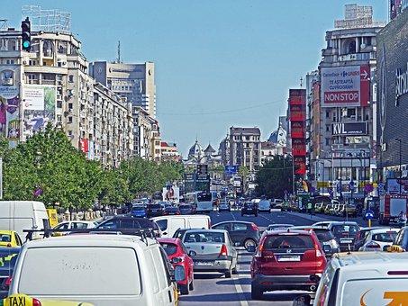 Bucharest, Morning Traffic, 10 00 Am, Jam, Junction