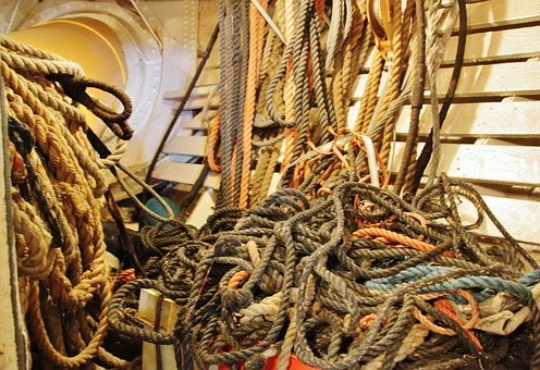 Ropes, Rope, Cordage, Dew, Tross, Fixing, Knot, Woven