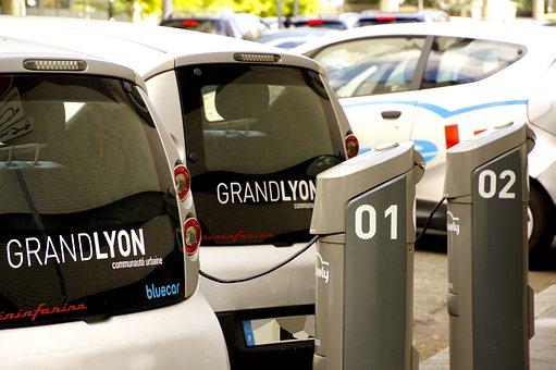 Lyon, Electric Cars, Station, Load, Bluecar, Taken