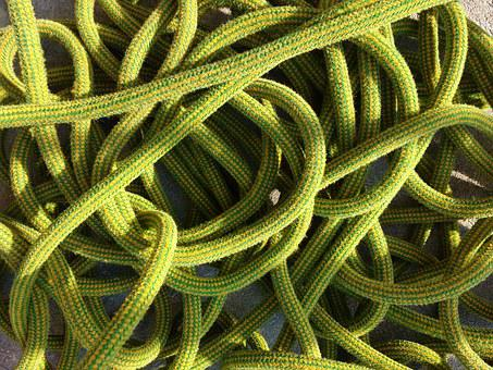 Rope, Devoured, Grinding, Mess, Climbing Rope, Loops
