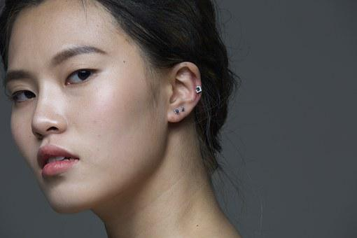 Piercing, By Cl, Model, Fashion, Women's, Facial, Asiam