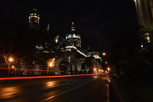 Cathedral, Night Photography, Night, Church