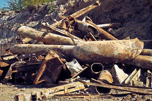 Garbage, Debris, Waste, Iron, Old, Scrap, Rot, Dirt