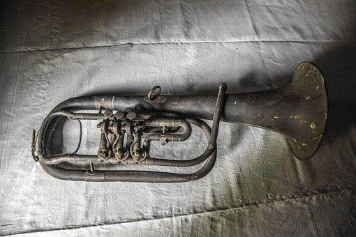 Old Trumpet, Rusty, Antique, Trumpet, Old, Instrument