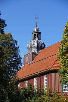 Church, Steeple, Clock Tower, Onion, Altenau