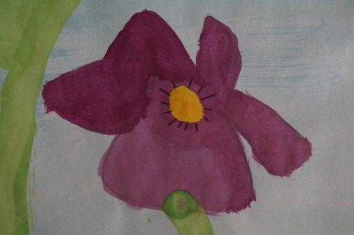 Pansy, Painted, School, Elementary School, Children