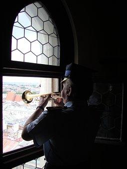 Kraków, Poland, History, Bugle Call, Playing, Trumpet