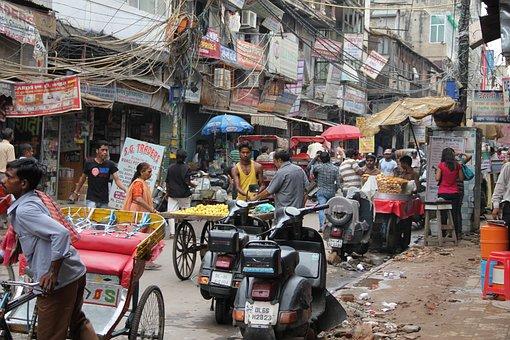 Delhi, Road, India, Chaos