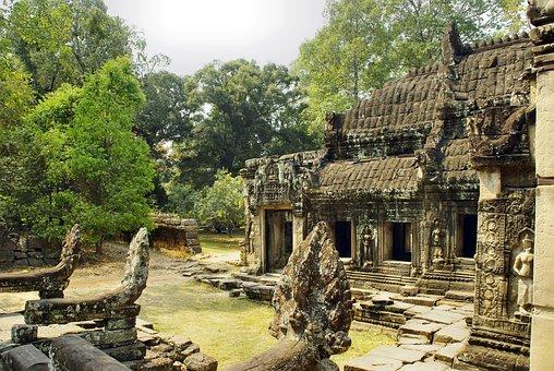 Cambodia, Angkor, Temple, Bantaey Srei, Ruin