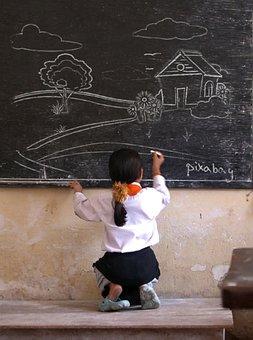 Blackboard, Chalkboard, Chalk, Scenery, School, Class