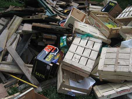 Waste, Wood, Wooden Boxes, Crates, Scrap, Waste Pile