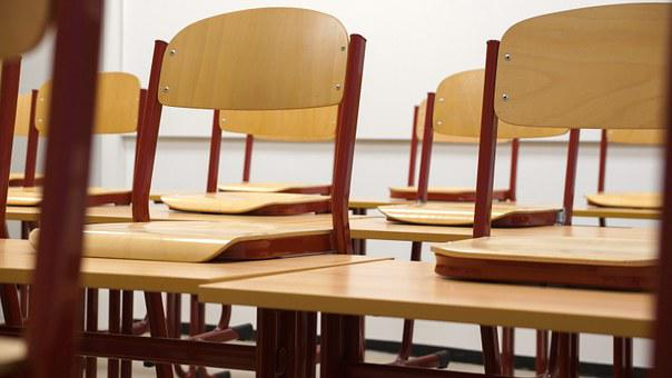 Classroom, Chairs, Tables, School, Seminar, Class