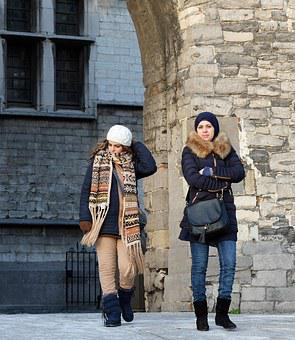 Tourists, Antwerp, Sight Seeing, The Stone, Girlfriend
