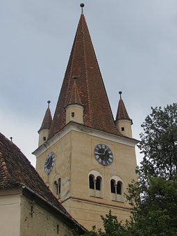 Cisnadie, Transylvania, Fortified Church, Tower