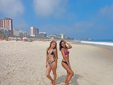 Beach, Women, Ride, Female, Landscape, Waves, Travel