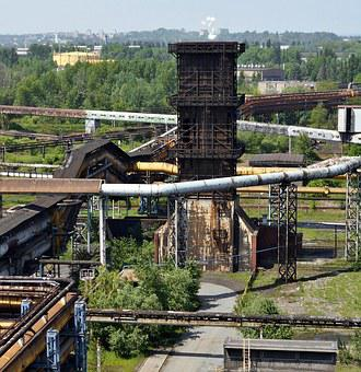 The Industry, Industrial Landscape, Ironworks, Tube