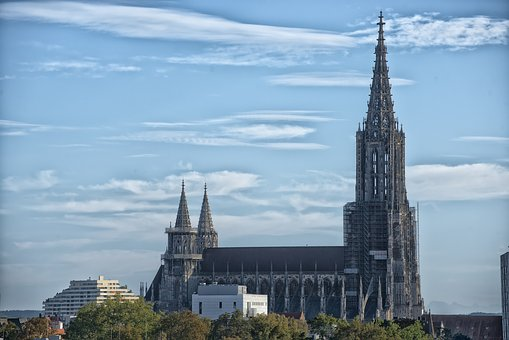 Ulm, Münster, Ulm Cathedral, Tower, Spire, Building