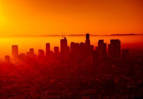 Los Angeles, California, City, Urban, Skyline