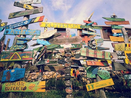 Wood, Signs, Direction, Chaos, Vintage, Blank, Wooden