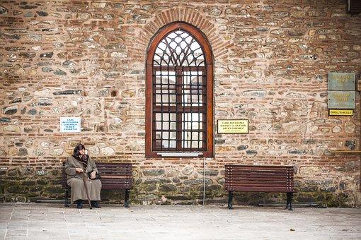 Wall, Window, Human, Bank, Women's, Muslim, Islam