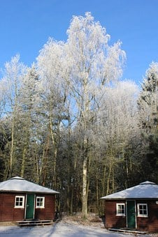 Winter Forest, Log Houses, Winter Magic, Snow Magic