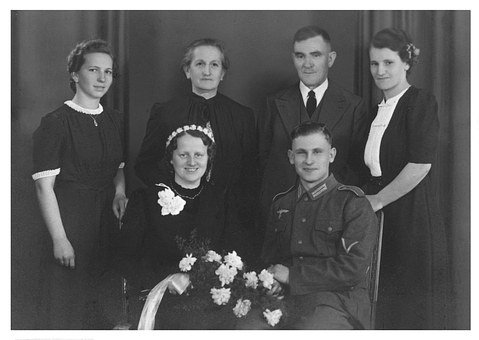 Photo, Old, Wartime, 1942, Before, Family, Festival
