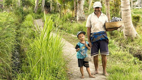 Bali, Laugh, Friendly, Human, Boy, Father, Child