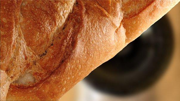 Bread, Wine, Table, Food, Gourmet, Italian