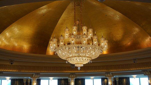 Chandelier, Burj Al Arab, Hotel, Dubai