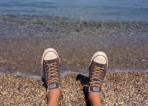 Converse, Chucks, Sneakers, Beach, Shore