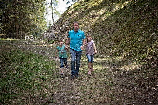 Family, Hike, Walk, Forest, Forest Path, Nature Trail