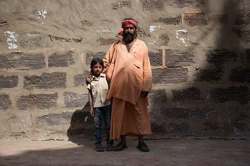 India, Family, Boy, Father, People, Asian