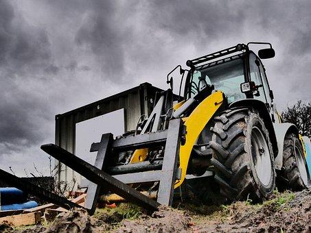 Front Loader, Forklift, Machine, Vehicle, Technology