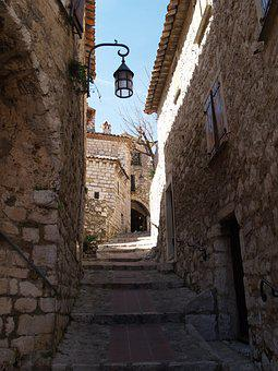 Eze, France, Arch, Old, Village, Europe, Provence, Azur